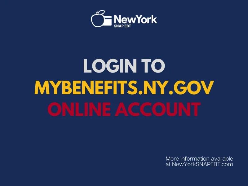 """Mybenefits.ny.gov Account Password Reset"""