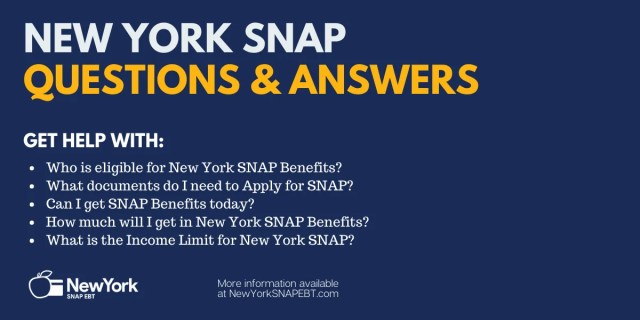 """""""New York Food Stamps FAQs"""""""