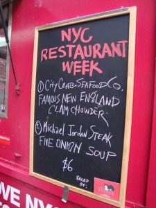 NYC RW truck menu