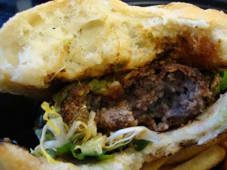 Inside schnitz-burger