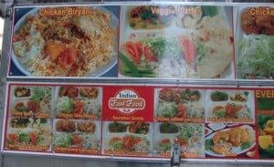 large menu