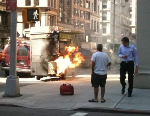 halal cart fire
