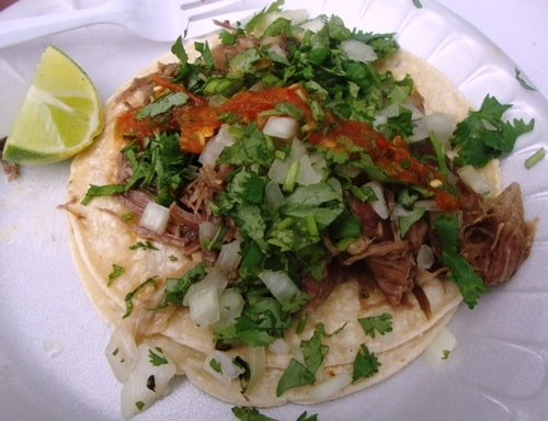 Pulled Goat Taco from 2012 Vendy Cup Winner Piaztlan Bk (credit: NYSF)