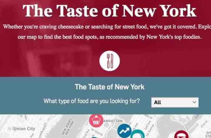 Interactive Food Map