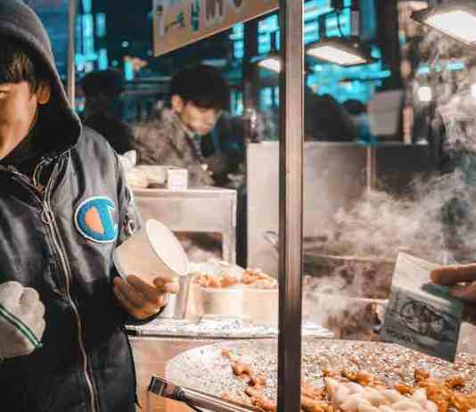 Myeongdong food market