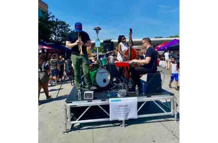 live band at Bronx night market