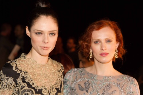 Coco Rocha and Karen Elson