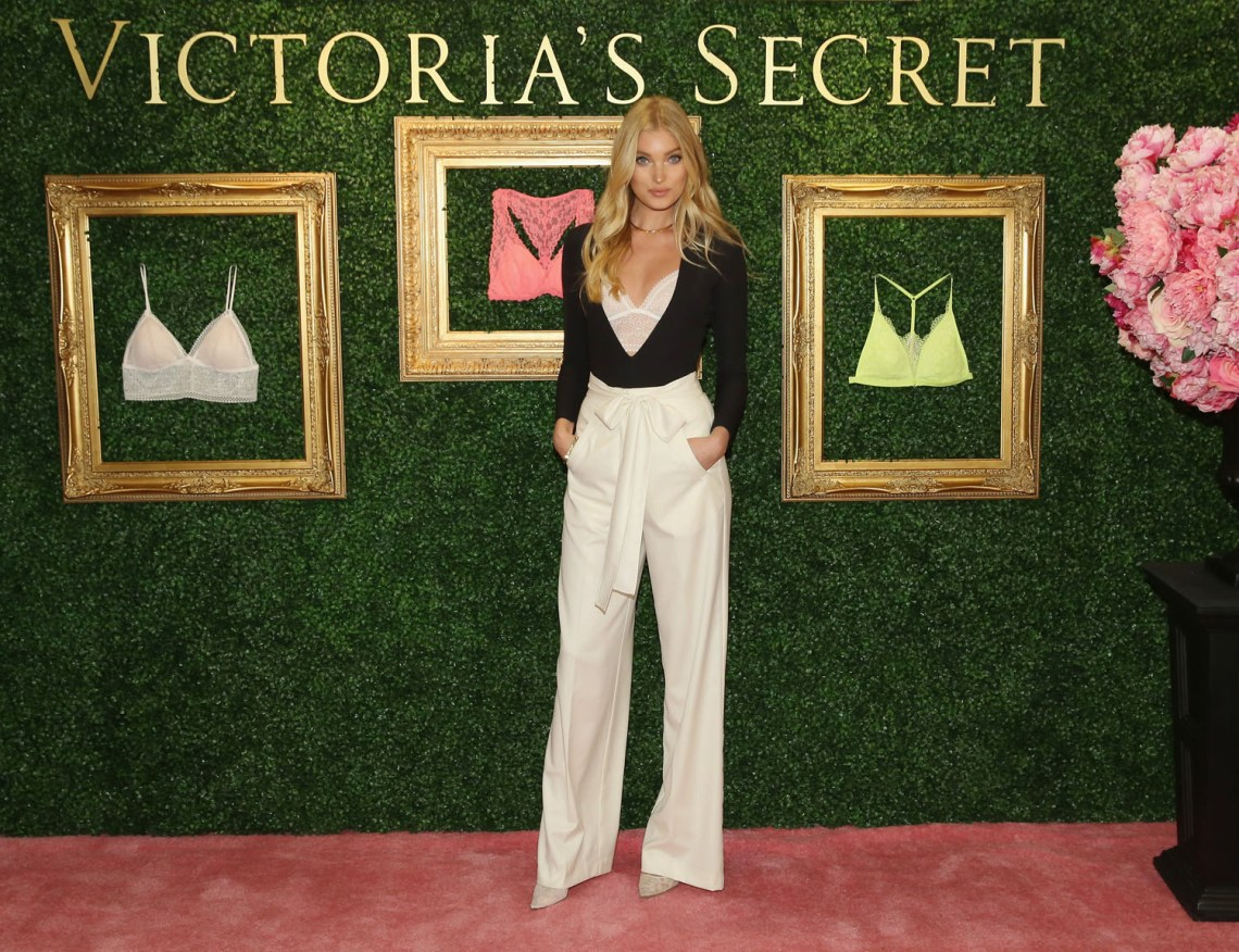 """NEW YORK, NEW YORK - APRIL 12:  Victoria's Secret Angel Elsa Hosk hosts global media live stream to reveal Bralette Collection & launch multi-city tour at Victoria's Secret Herald Square on April 12, 2016 in New York City  (Photo by Cindy Ord/Getty Images for Victoria's Secret)"""