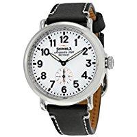 Shinola Detroit Unisex The Runwell 41mm - 10000019 White Black Watch