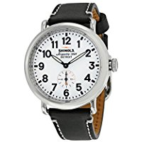 Shinola Detroit Unisex The Runwell 41mm - 10000019 White Black Watch
