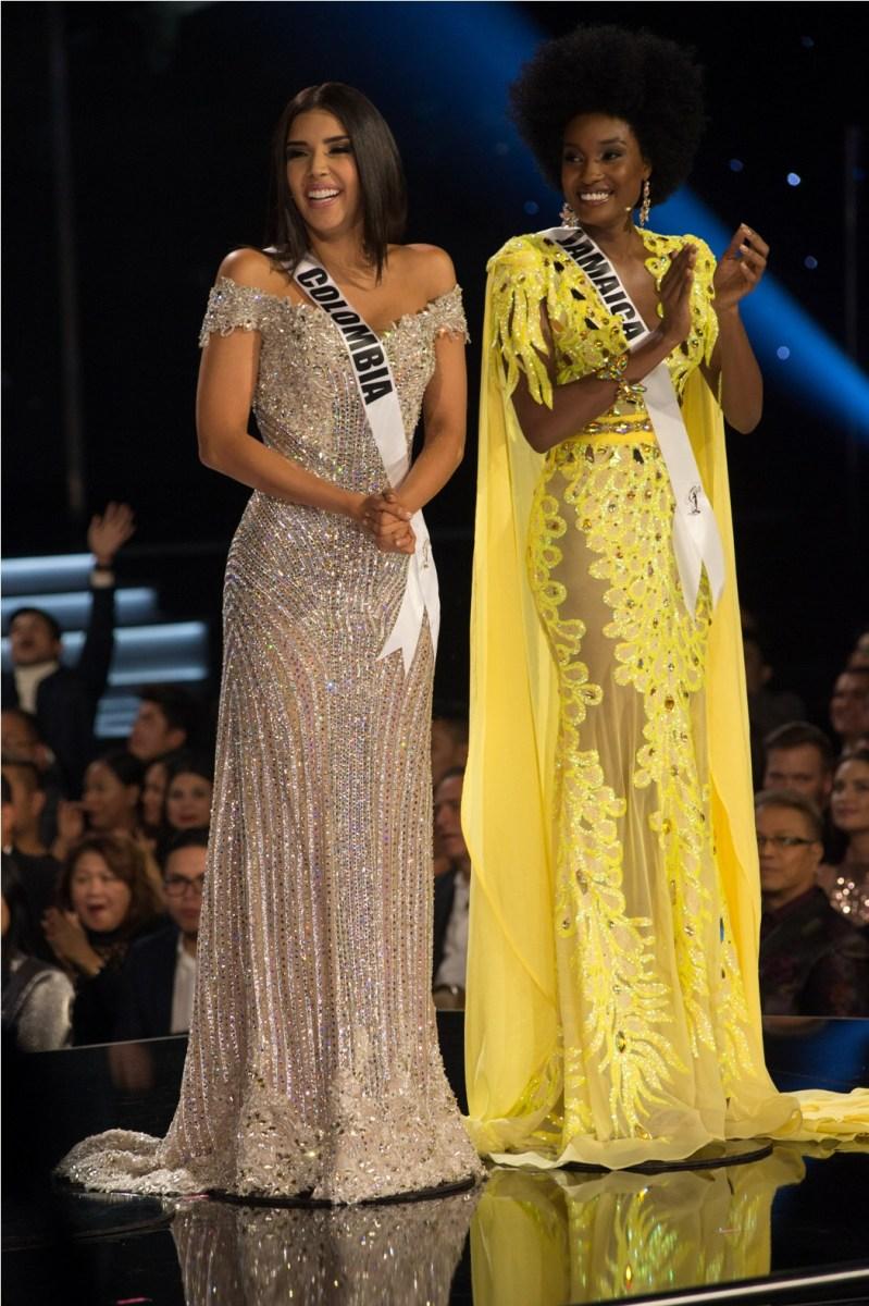 Laura González, Miss Colombia 2017 and Davina Bennett, Miss Jamaica 2017