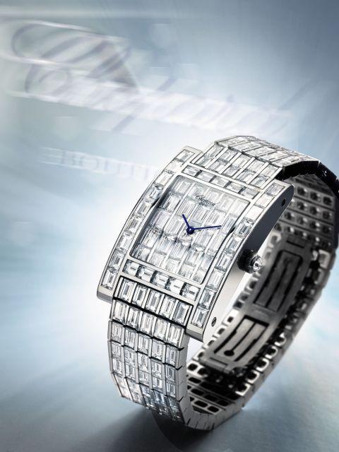 stunning rectangular bracelet watch by Chopard circa 2006