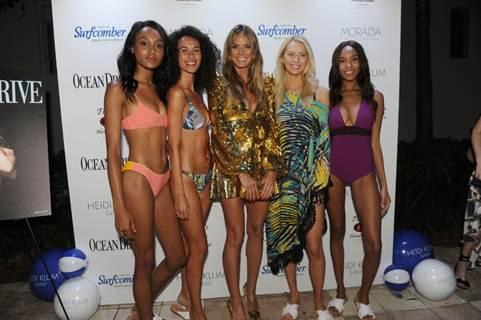 Ocean Drive Magazine Celebrates Swim Issue with Heidi Klum and Heidi Klum Swim at Kimpton Surfcomber Hotel in South Beach
