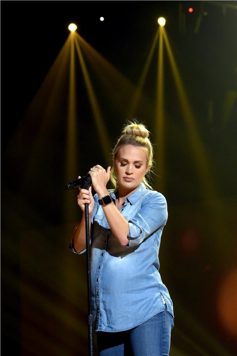 Carrie Underwood performs onstage during the 2018 American Music Awards
