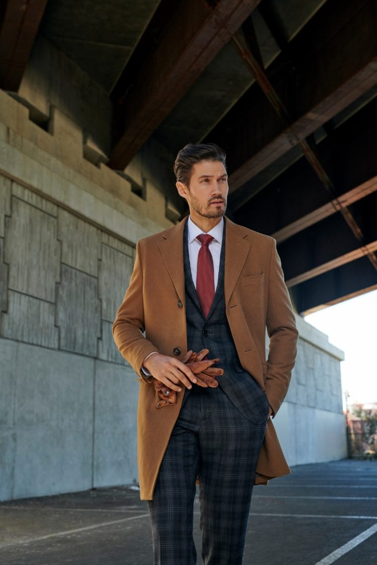 Indochino Heartford Camel Overcoat