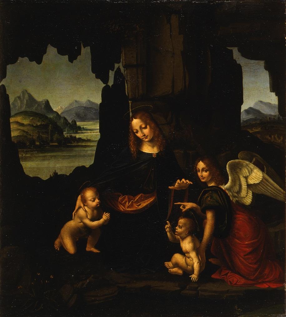 Marco d'Oggiono, Madonna col Bambino, San Giovannino e un angelo. Pinacoteca del Castello Sforzesco Milano