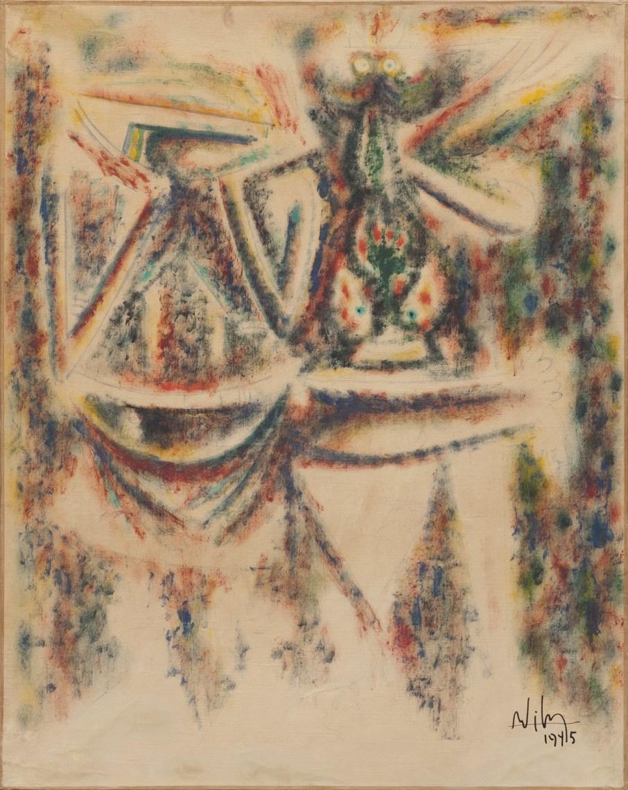 Lam, Deux personnages, IV, 1945