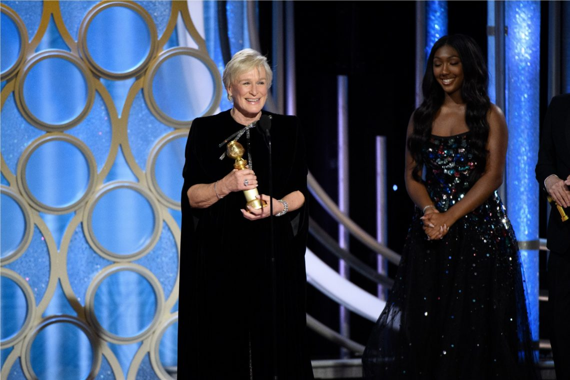 "Glenn Close accepts the Golden Globe Award for BEST PERFORMANCE BY AN ACTRESS IN A MOTION PICTURE – DRAMA for her role in ""The Wife"" at the 76th Annual Golden Globe Awards at the Beverly Hilton in Beverly Hills, CA on Sunday, January 6, 2019."