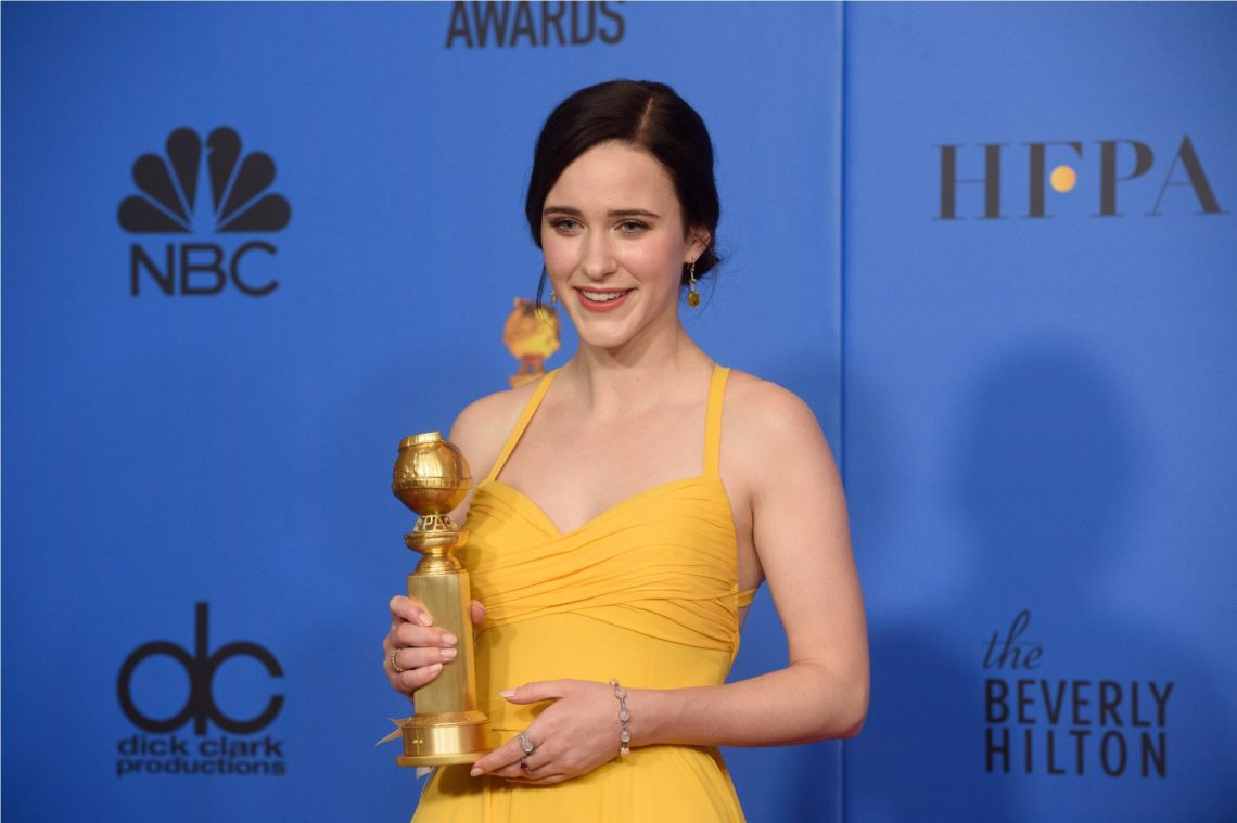"After winning the category of BEST PERFORMANCE BY AN ACTRESS IN A TELEVISION SERIES – MUSICAL OR COMEDY for her role in ""The Marvelous Mrs. Maisel,"" actress Rachel Brosnahan poses backstage in the press room with her Golden Globe Award at the 76th Annual Golden Globe Awards at the Beverly Hilton in Beverly Hills, CA on Sunday, January 6, 2019."
