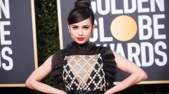 Sofia Carson attends the 76th Annual Golden Globe Awards at the Beverly Hilton in Beverly Hills, CA on Sunday, January 6, 2019.