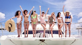 Shea Marie, Cara Santana, Natalie Suarez, Dylana Suarez, Jenny Cipoletti and Ashley Moore Celebrating VS Swim in Turks & Caicos