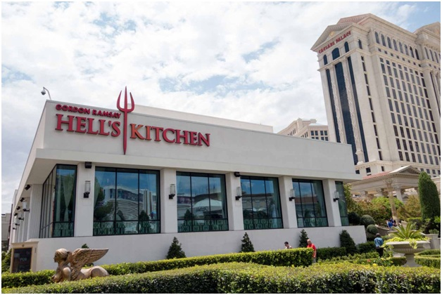 Gordon Ramsey's Hell's Kitchen Restaurant on the Las Vegas Strip