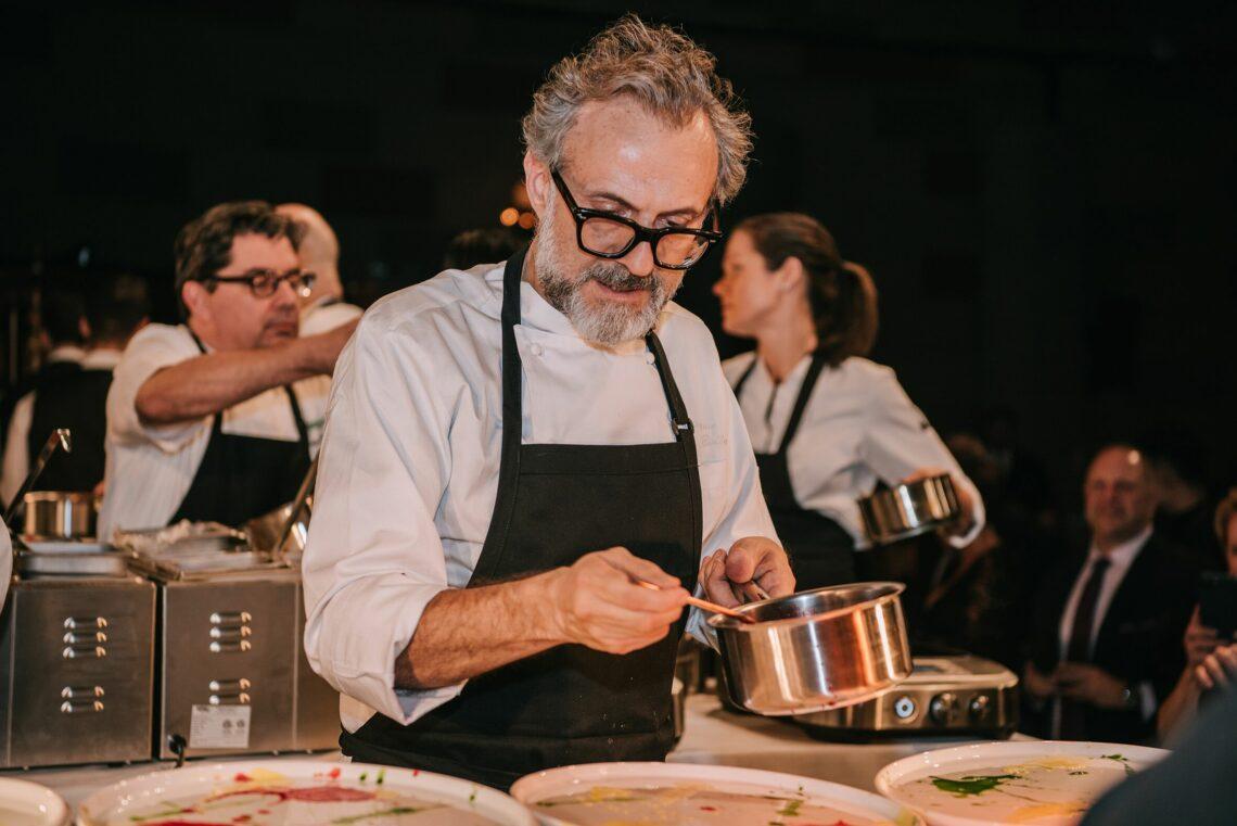 Massimo Bottura prepares