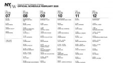 NYFW - New York Fashion Week February 2020 Schedule