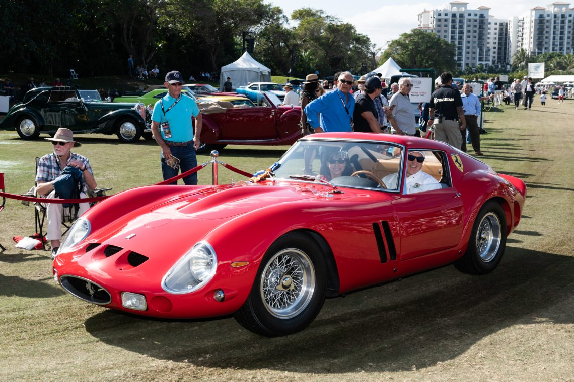 2020 Best of Show Car Presented to Tom & Liz Hill of Windermere, FL on behalf of Dr. Richard Workman, owner 1962 Ferrari 250 GTO Coupe, Scaglietti