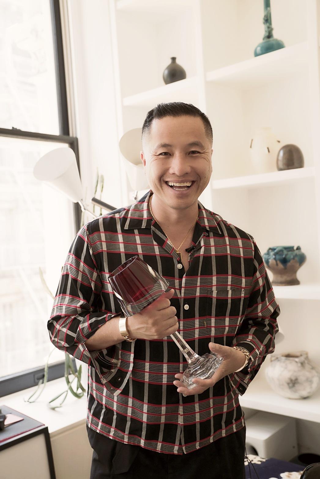 Phillip Lim holding trophy 2