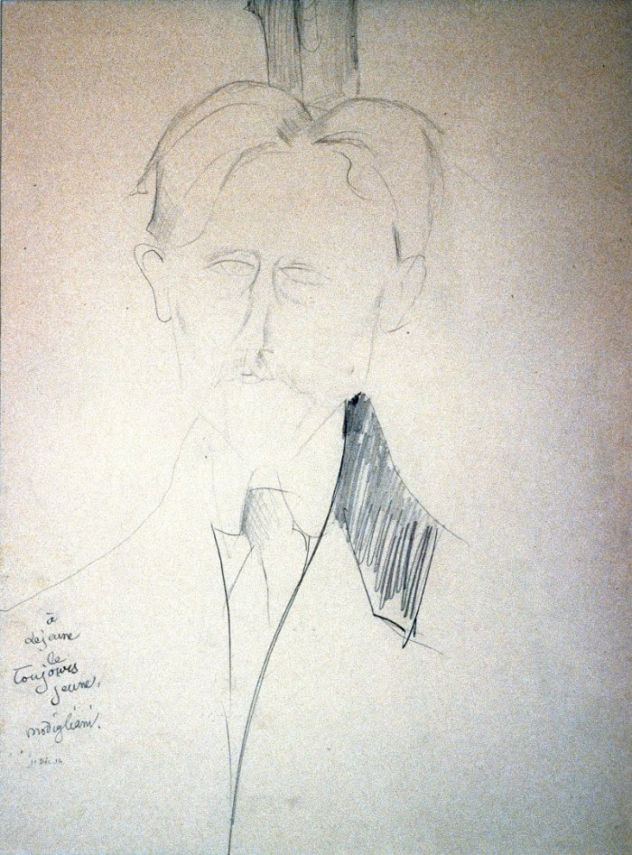 Portrait of Lejeune, by Amedeo Modigliani (1916). Graphite on paper. The Dr. and Mrs. John J. Mayers Collection. Robert Sisson.