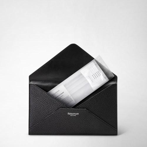 Serapian Envelope Cachemire leather black inside