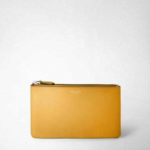 Serapian Pouch Plain leather yellow