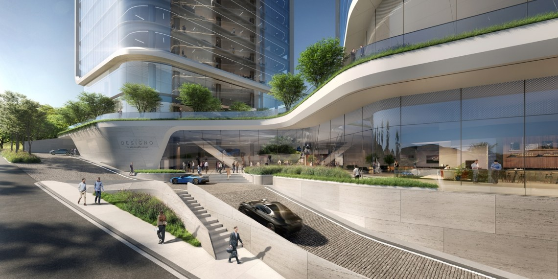 Entrance - Pininfarina Unveils Torre Designo, An Ultra Premium Commercial Tower in Mexico City