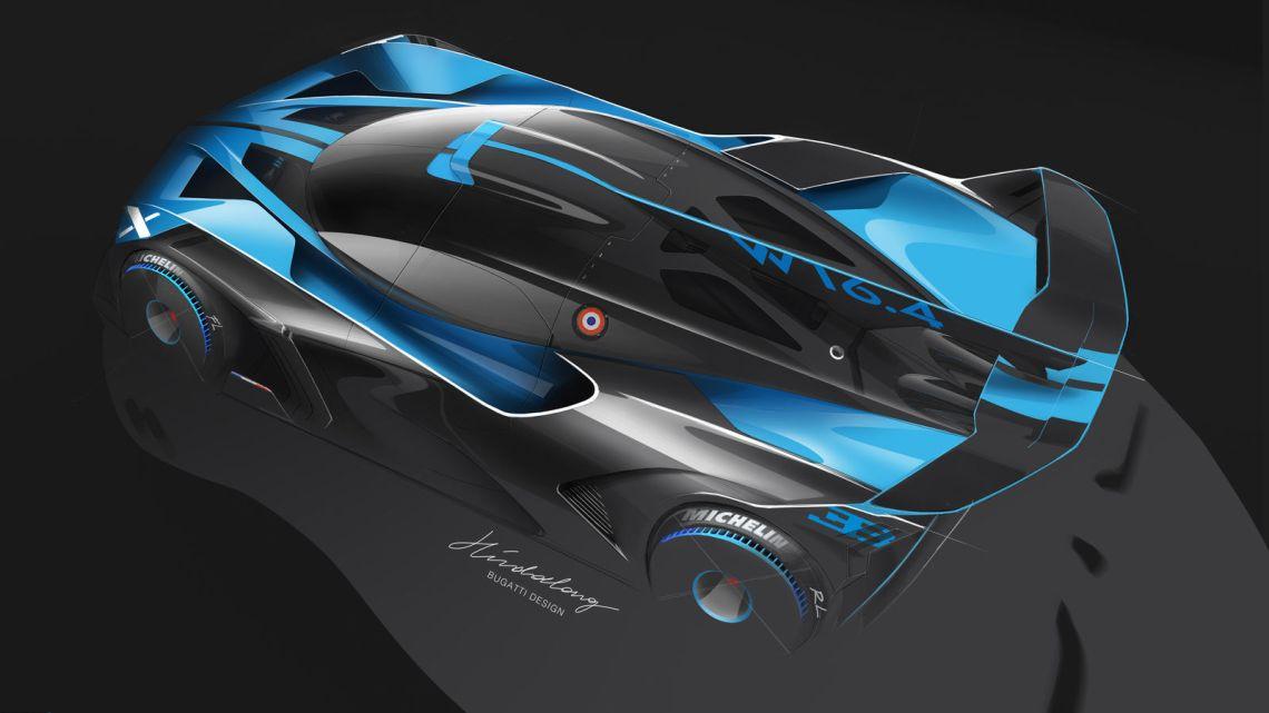 Design sketch Bugatti Bolide top view - Artur Hindalong, Bugatti Design