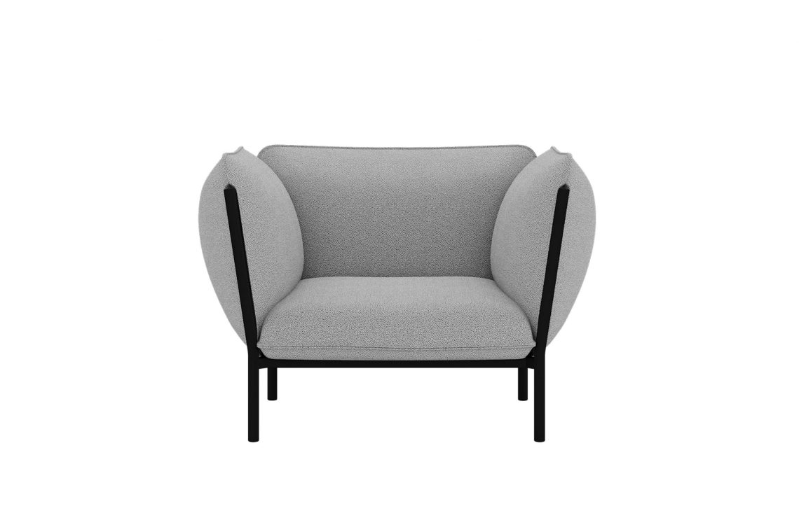 Kumo Single Seater Sofa with Armrests Graphite