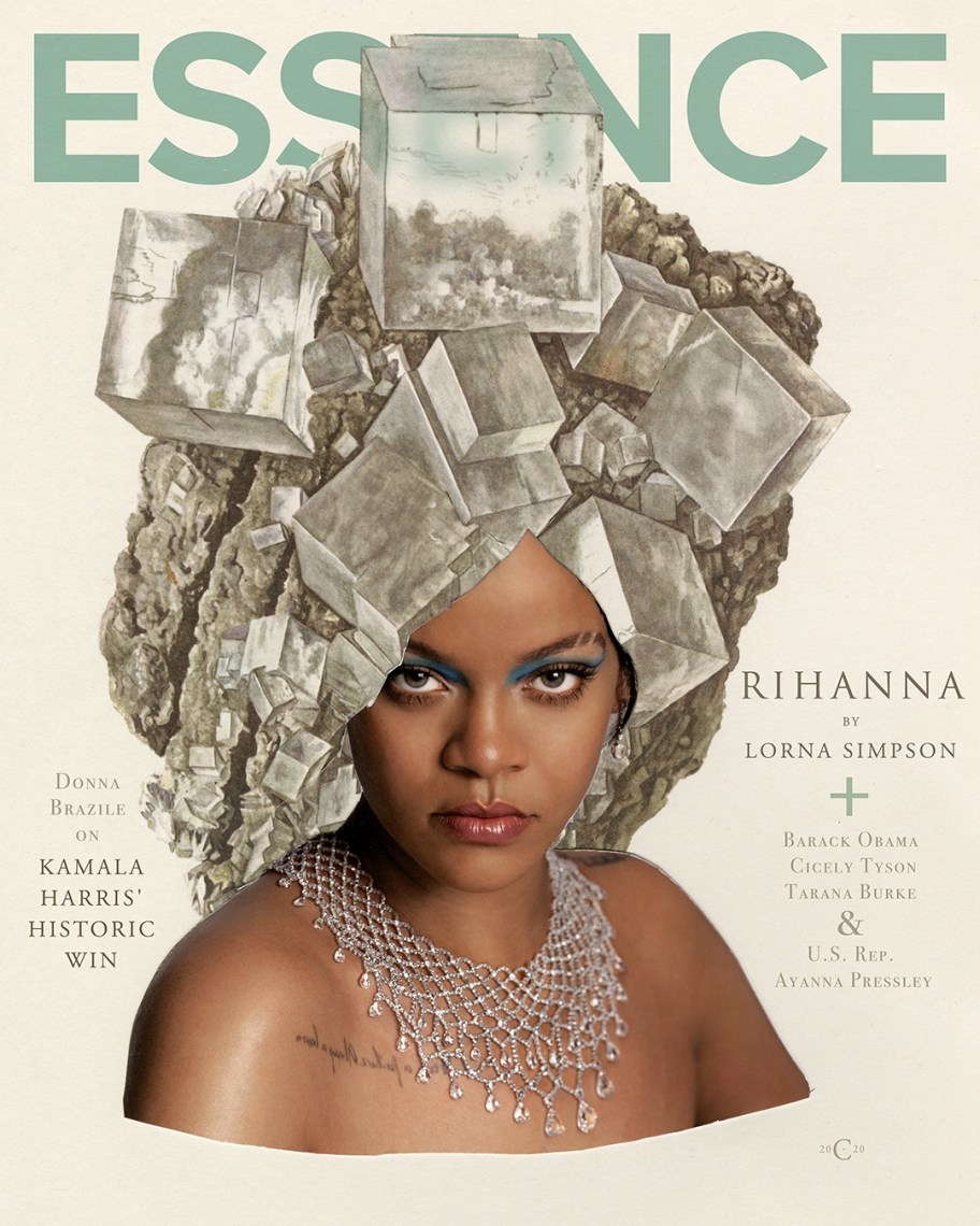 RIHANNA AND ARTIST LORNA SIMPSON: ESSENCE JANUARY FEBRUARY 2021 ISSUE ARTISTIC COVER