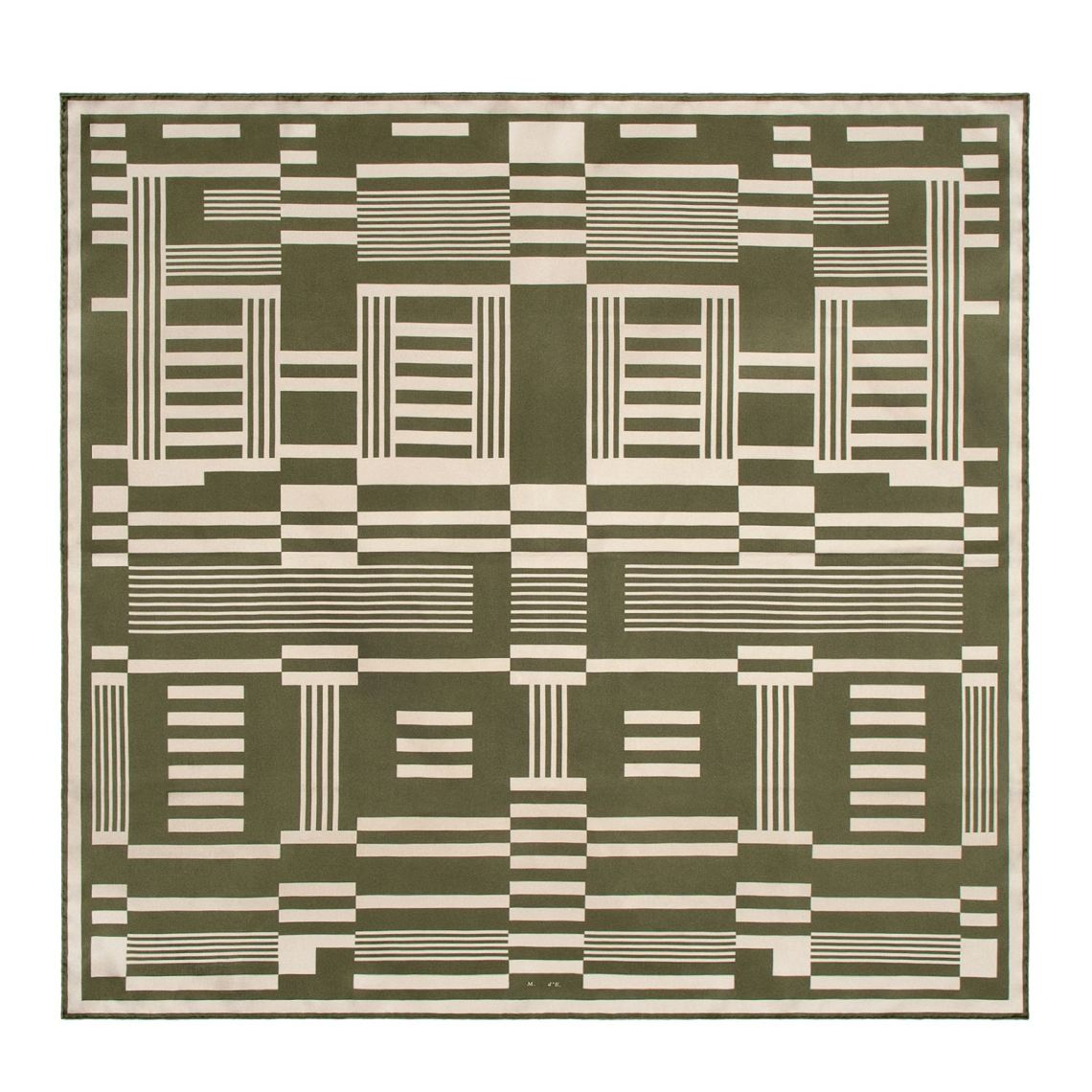 4174-01A UNK_MEO SRG GREEN SCARF LAYDOWN_WHITE