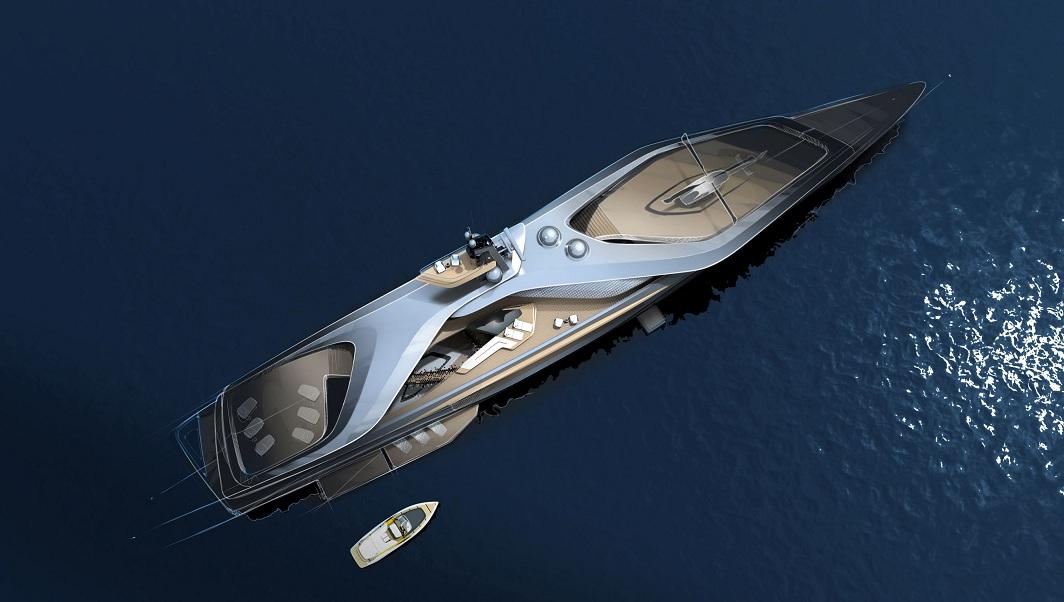 Kairos, a new superyacht designed by Pininfarina for Oceanco