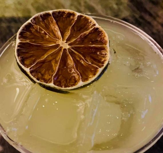 Wasabi Gin Martini On The Rocks