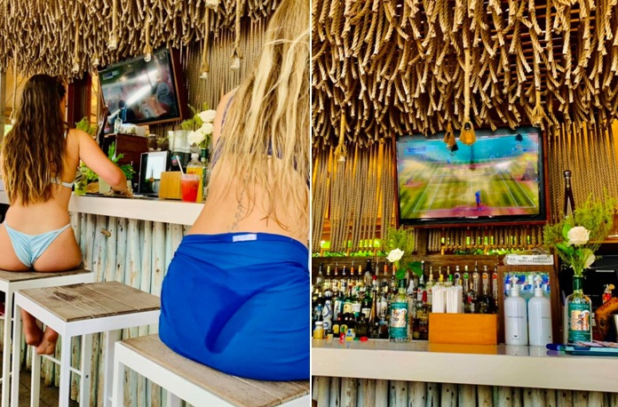 Sipsmith Wimbledon Watch Party poolside at W South Beach