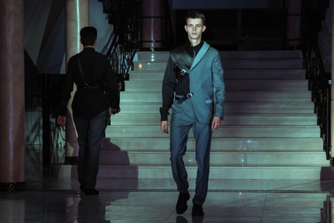 Designer Daniil Tkachenko with the Man Power men's collection