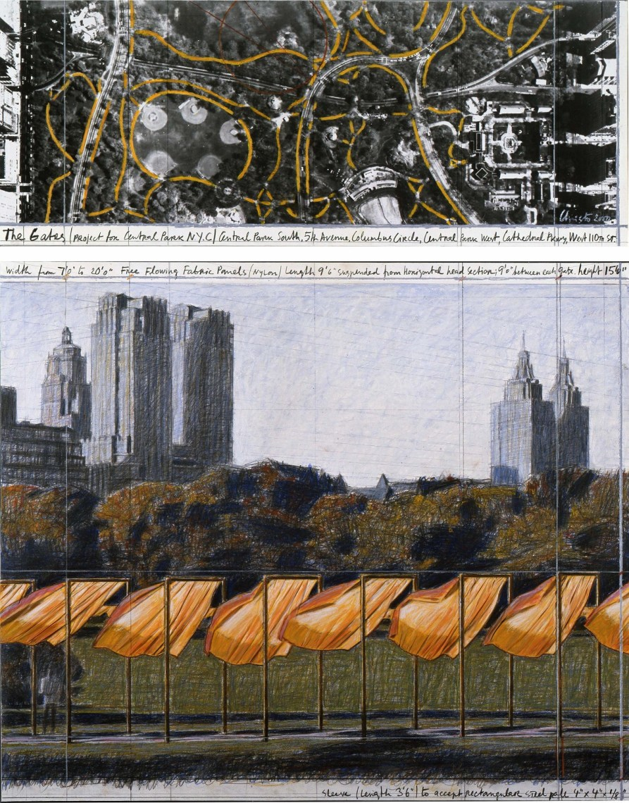 Christo, The Gates (Project for Central Park, New York) #39