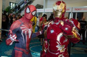 Spider Man and Iron Man at Florida Supercon%20(1)