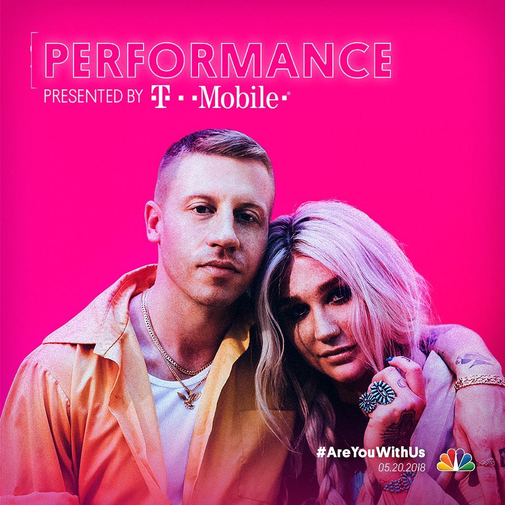 """Macklemore and Kesha Performance Announced Presented by T-Mobile at the """"2018 Billboard Music Awards""""! 1"""