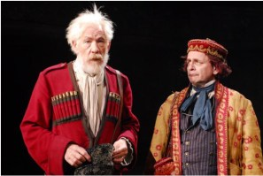 "Ian McKellen as King Lear and Sylvester McCoy as Lear's Fool in the Royal Shakespeare Company production of ""King Lear"" during BAM Fall Series, 2007]"