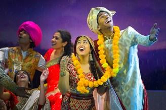 (foreground) Kuhoo Verma (Aditi Verma) and Michael Maliakel (Hemant Rai); (background) Mahira Kakkar (Pimmi Verma), Rohan Gupta (Varun Verma), and Sharvari Deshpande (Ria Verma).
