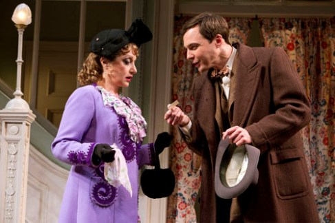 Carol Kane and Jim Parsons in Harvey on Broadway