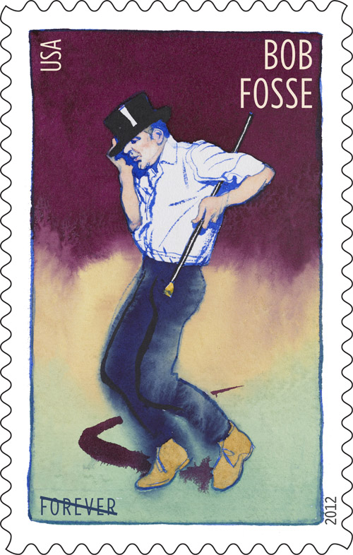 Stamp of choreographer Bob Fosse by United States Postal Service