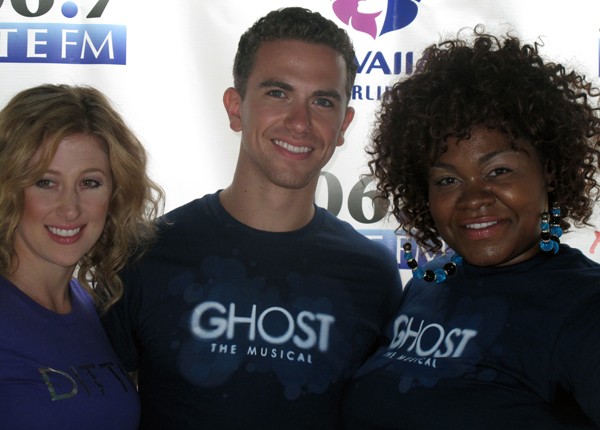 Ghost the Musical Broadway stars Caissie Levy, Richard Fleeshman and Da'Vine Joy Randolph